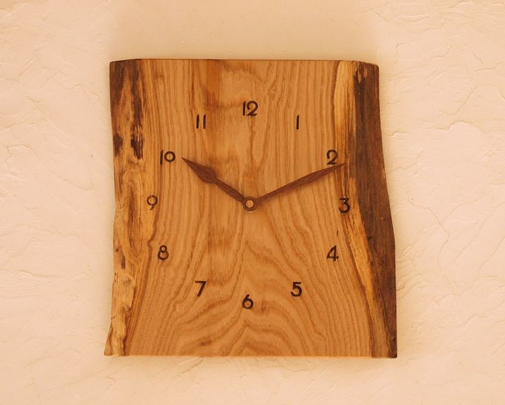 掛け時計 栗材④