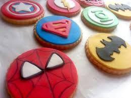 Resultado de imagen de galletas de superheroes