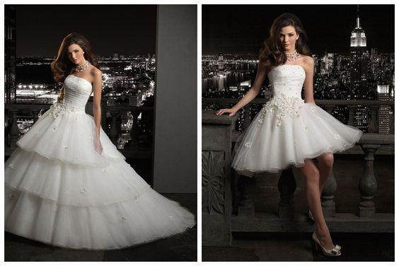 Con estos fabulosos vestidos de novia desmontables irás de la iglesia a tu recepción en menos de 5 minutos! :) Copia uno de estos 37 modelos!