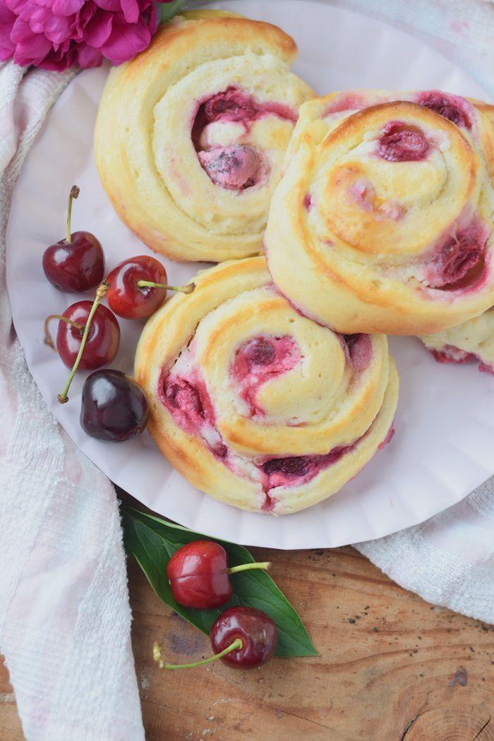 Kirsch Cheesecake Schnecken