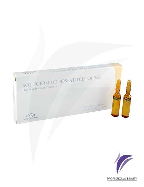 Solución de Fosfatidilcolina Caja x10 ampolletas de 5ml: La Solución de Fosfatidilcolina es un tratamiento especializado para combatir grasas rebeldes localizadas, estimulando la degradación, movilización y eliminación de lípidos.