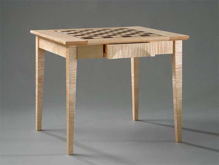 Handmade Custom Wood Chess Tables