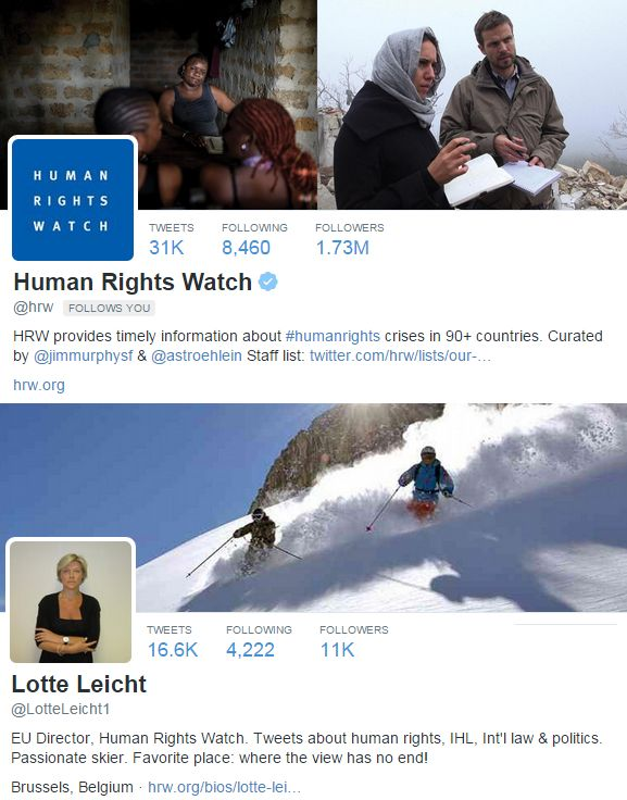 Case Study: How Human Rights Watch Leverages Employee Personal Brands on Twitter < There are no better champions for your organization's communication's strategy than your staff... With a few guidelines and a little training, employees can use social channels effectively in service of your organization's mission AND their own learning...""