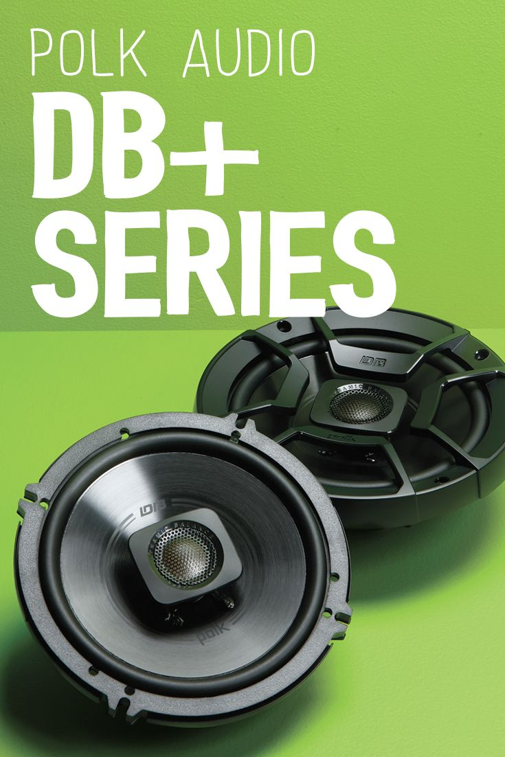 Good music becomes great when you hear it through Polk's db Series car speakers. Polk engineers use laser imaging to determine the ideal combination of speaker materials and design to eliminate distortion. The resulting technology produces speakers with smooth frequency response, sharp detail, and the ability to play music at high volumes without strain.