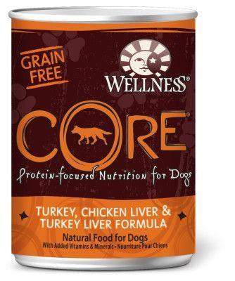 Wellness CORE Turkey & Chicken Liver Dog Food 12/12.5oz