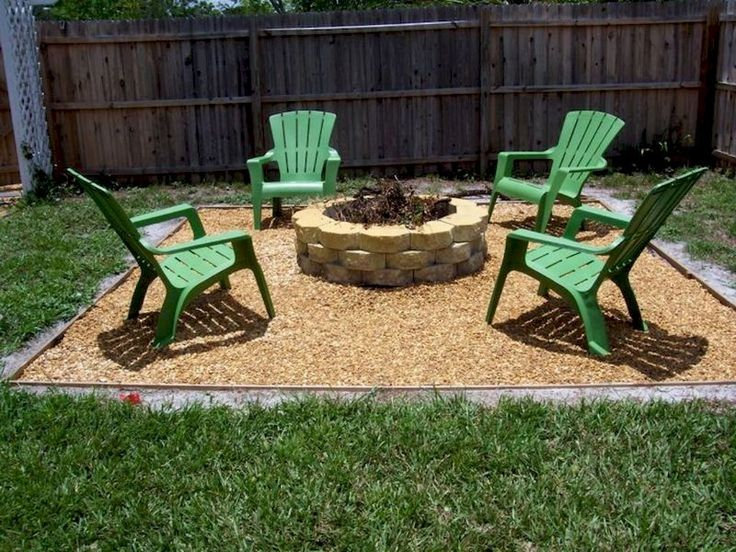 Best 25 cheap backyard ideas ideas on pinterest for Patio ideas with fire pit on a budget