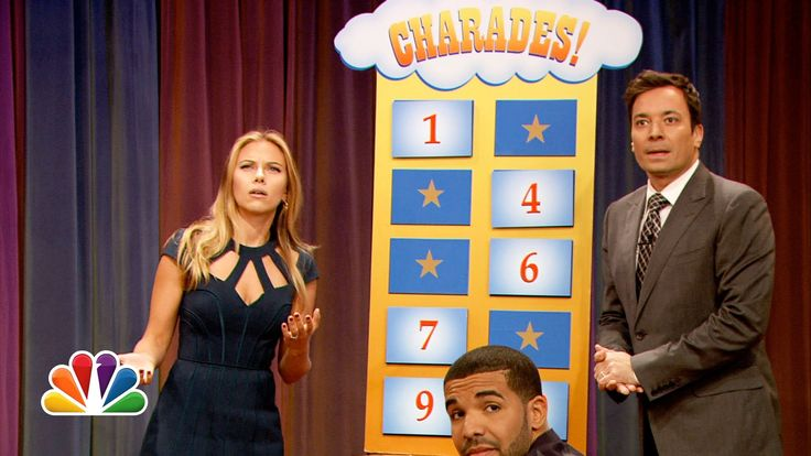 Scarlett Johansson and Drake play Charades with Jimmy and Tariq from The Roots! http://www.youtube.com/watch?v=xPR-Ej-ENbk