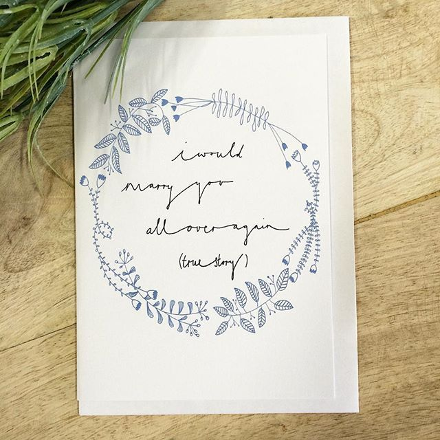 SnapWidget | 'I would marry you all over again (true story)' - the perfect valentines card! #therubyorchard #valentines