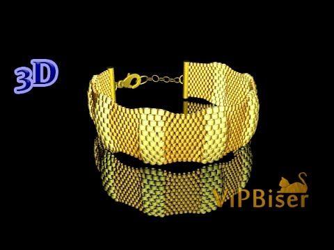 """""""turtle bracelet"""" peyote stitch ~ Seed Bead Tutorials"""