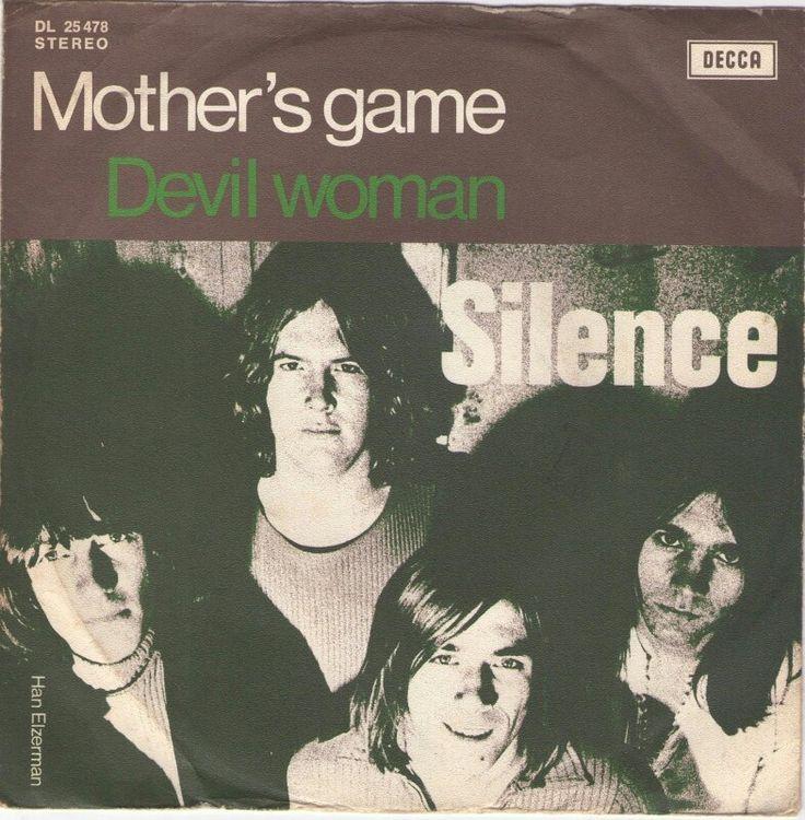"""SILENCE """"Mother's Game"""" b/w """"Devil Woman"""" 1972 DECCA (Holland) Nederbeat - Proto Punk two sider.. A side reminds me of BIG WHEEL cos' the riff is  very '60s Mod & it's done w/1970s style w/dual guitar harmonies, time change & snotty vocals. They're produced by Neder-Glam genius HANS VAN HEMMERT & the B side is a gem too! Caveman """"COMMUNICATION BREAKDOWN""""riff. Like '66 CREATION & '76 AC/DC in a blender.. Super dry & over compressed tough sounds!"""