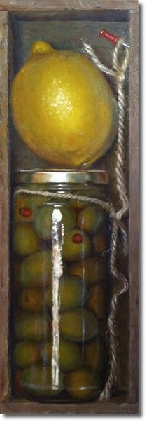 Jeffrey Hayes: Contemporary Still Life Paintings: Boxed Olives
