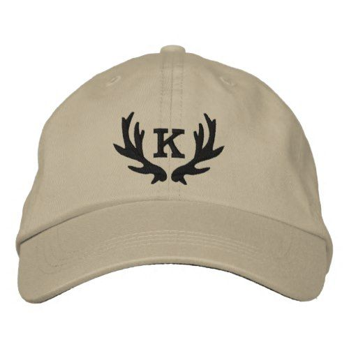Custom deer antler monogram hunting hat