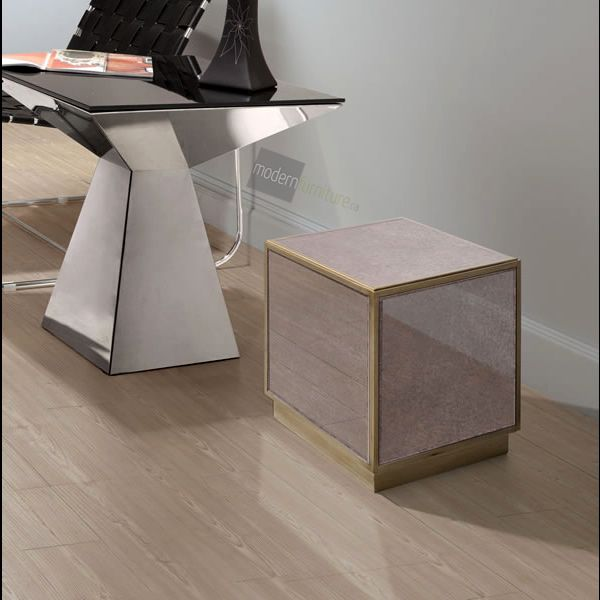 Modern and hip with its mirrored surface the Quixote Side Table is ready for anything.