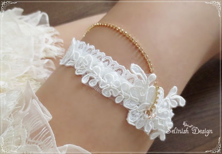 Ivory Garter, Gold Rhinestone Garter, Champagne Gold Lace Wedding Garter, Something Ivory by SelinishDesign on Etsy