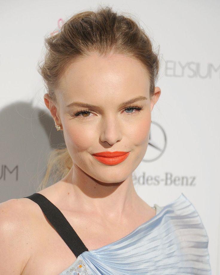 Kate Bosworth - Tangerine orange lipstick - beauty trend 2014