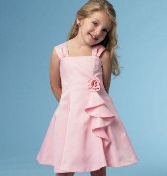 Butterick - B5980 patroon Meisjes jurk met ritssluiting | Naaipatronen.nl | zelfmaakmode patroon online