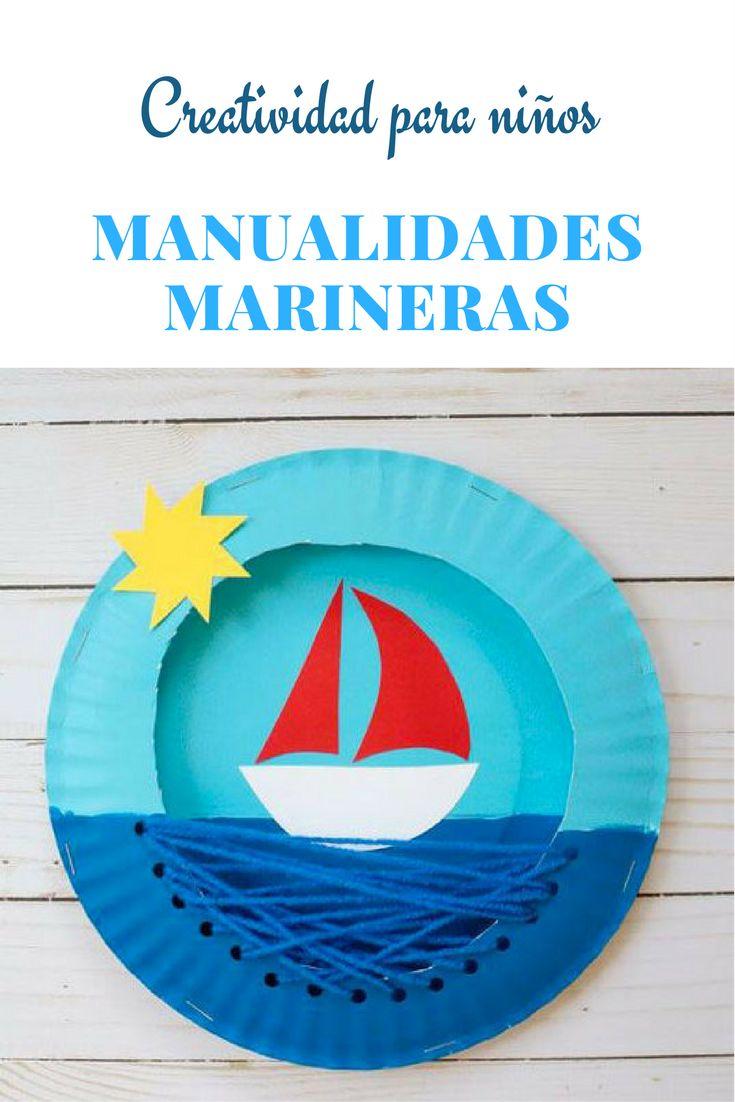 Manualidades marineras con platos de papel para niños #kids #craft #diy #platospapel