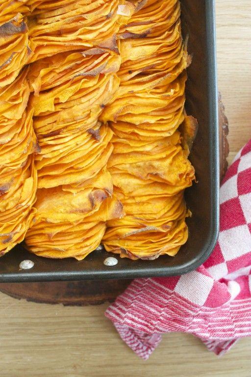 geroosterde zoete aardappel crispy sweet potato roast