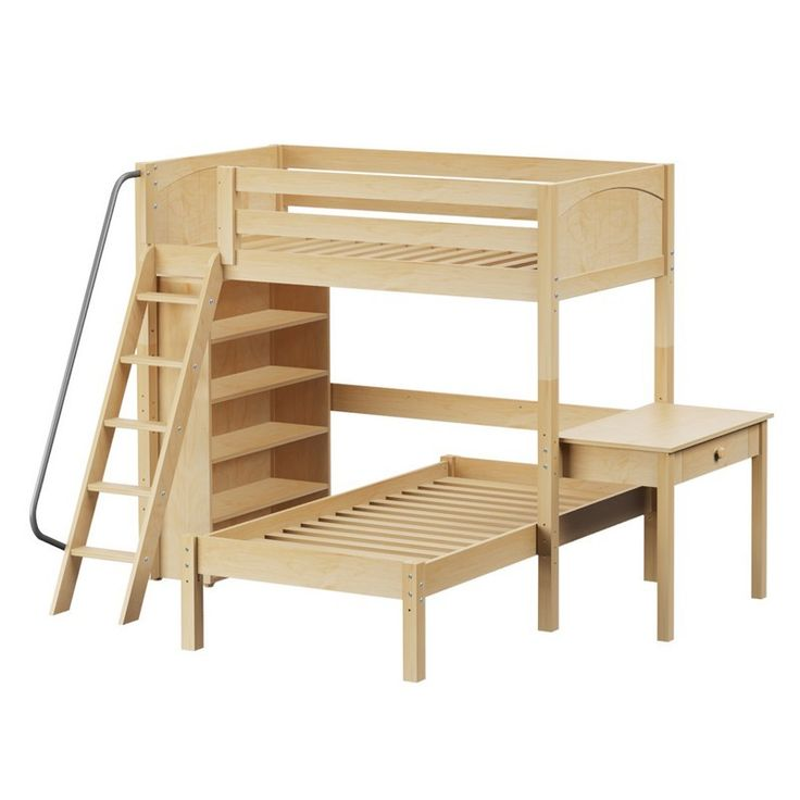 Loft bed with angle ladder and handle bed equipped with independent yet fitting…