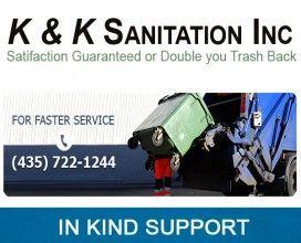 K&K Sanitation - In Kind Sponsor 2015