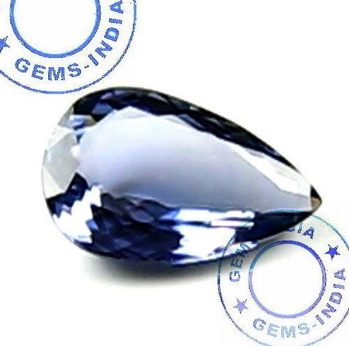 NATURAL 1.00 Ct PEAR TANZANITE Violet Blue~Certified Untreated For Diamond Ring #GEMSINDIAEBAYTOPRATEDSELLER