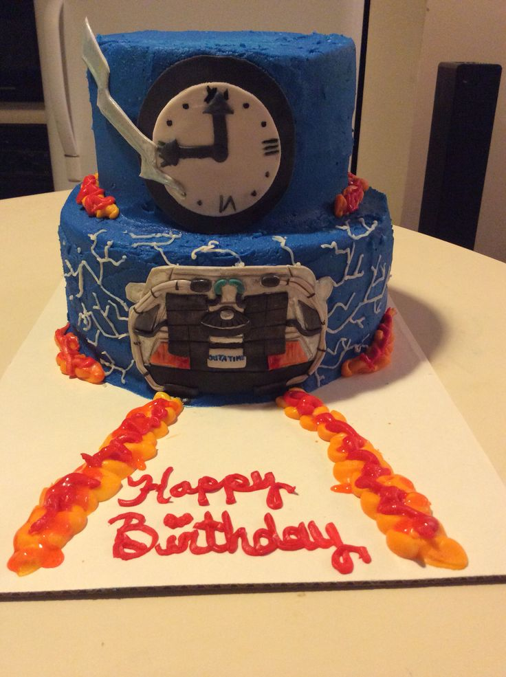 Back To The Future Cake My Creations Pinterest To