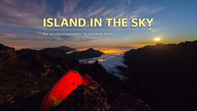 Island in the Sky by Christoph Malin. Incredibly beautiful time lapse of the La Palma (Canary Island) skyline at night.