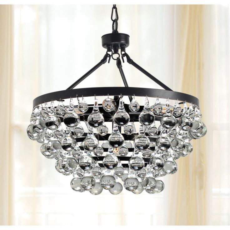 Give Your Living Room An Update With This Drop Crystal Chandelier It Features Five Lights