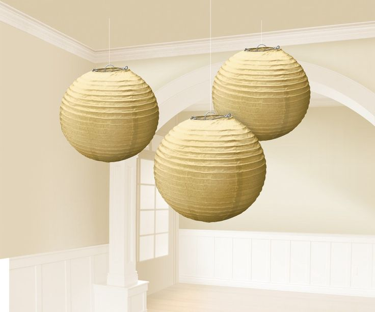 Gold Round Lantern Decorations