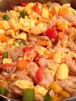 Ackee and Saltfish: This is a classic Jamaican dish that is often served with boiled green plantain as well as fried dumplings.