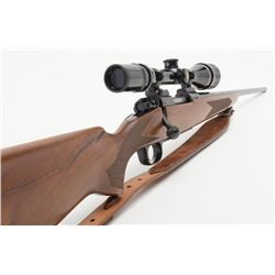 "Winchester Model 70 Lightweight bolt action rifle, .243 Win. cal., 22"" barrel, blue finish, checke"