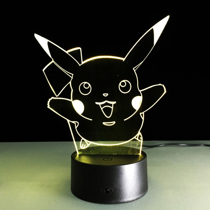 Pokemon Go Pikachu 3D LED Night Lamp The World Of Pokemon Go