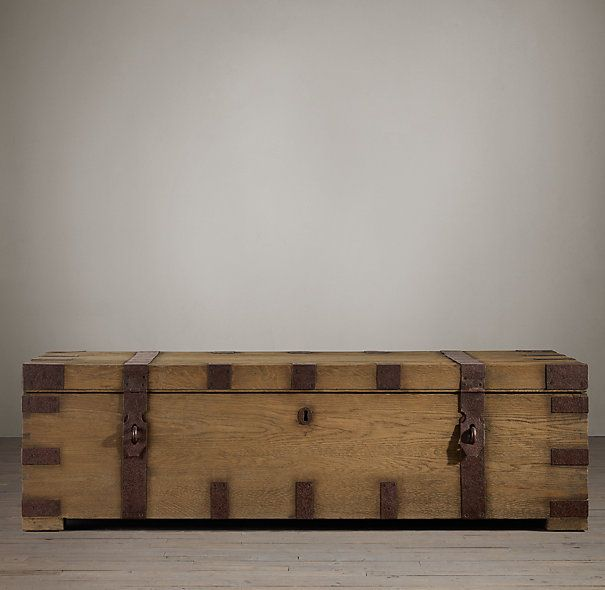 heirloom silver coffee trunk extralarge restoration hardware instead of a coffee table