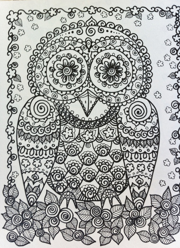 236 best Mandala - Easy images on Pinterest Coloring books - copy baby owl coloring pages for adults