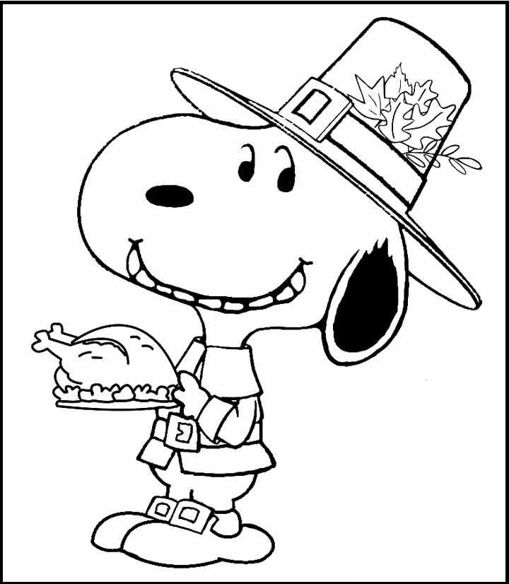 peanuts coloring pages thanksgiving - photo#14
