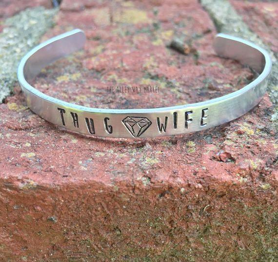 Thug Wife Bracelet Cuff Bracelet Gangsta Wife Thug Wife