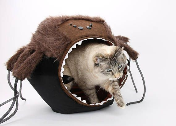 Spider cat bed Scary Spider Cat Ball cat bed Hairy Cat