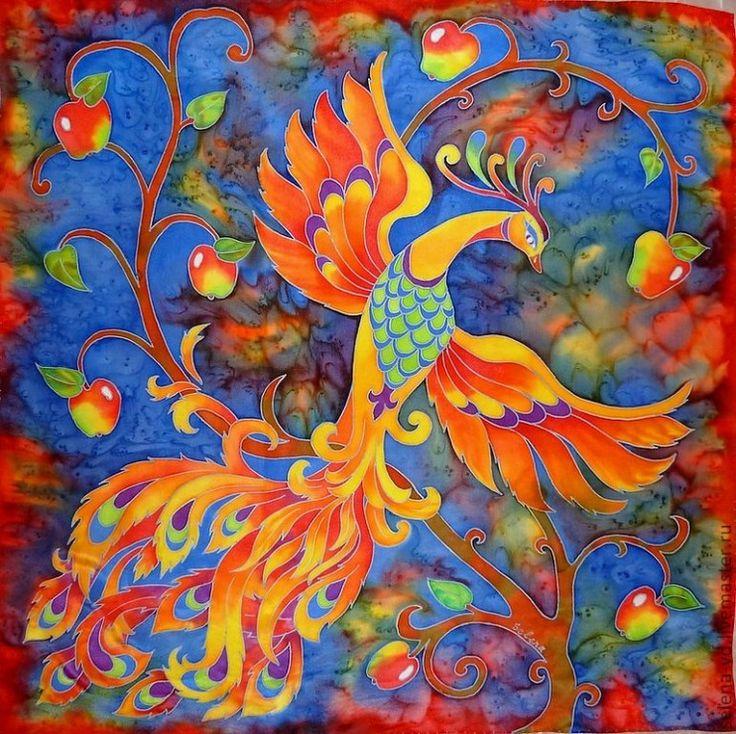 Картинка жар-птица из цветов