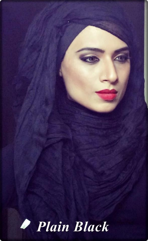 hijab black side and cute sheer