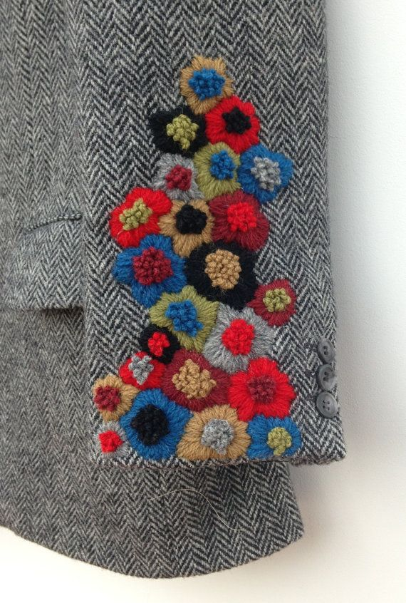 hand embroidered harris tweed jacket...