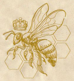 Queen Bee | Urban Threads: Unique and Awesome Embroidery Designs