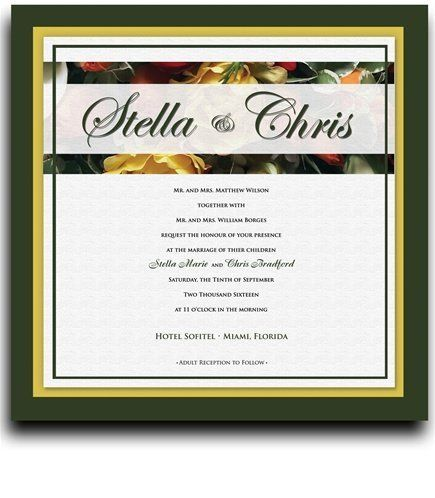 170 Square Wedding Invitations - Spring Garden Bouquet by WeddingPaperMasters.com. $445.40. Now you can have it all! We have created, at incredible prices & outstanding quality, more than 300 gorgeous collections consisting of over 6000 beautiful pieces that are perfectly coordinated together to capture your vision without compromise. No more mixing and matching or having to compromise your look. We can provide you with one piece or an entire collection in a one stop ...