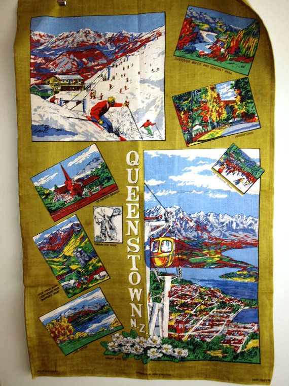 Vintage X Large 60s Queenstown New Zealand Pure by FunkyKoala