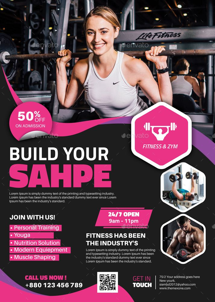 Fitness Gym Flyer Fitness Flyer Gym Flyer Personal Training