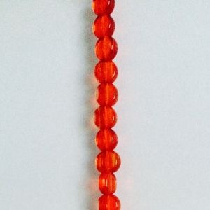 Red - 8mm, 1 strand, 46 beads, Disc
