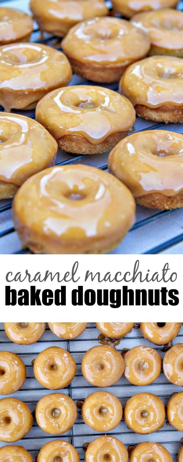 Homemade baked caramel macchiato donuts using International Delight Creamer are tasty and so easy to make. #SplashOfDelight AD