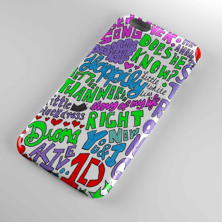 1d one direction happily lyric cover for iphone and samsung galaxy case