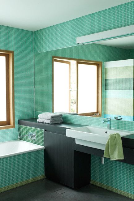 Sea Green Bathroom Via Httpwwwstudiohomeonlinecompage2 - Sea-green-bathroom-tiles
