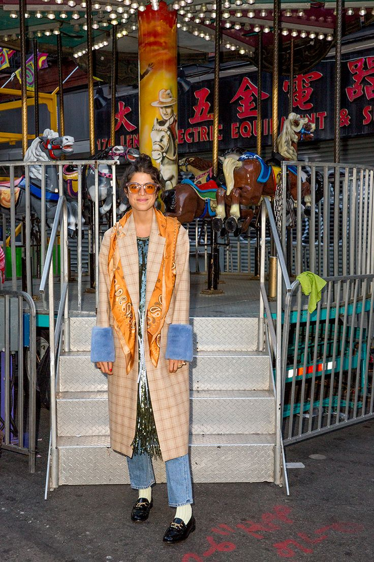 Leandra presents: How to wear loafers with going out clothes.