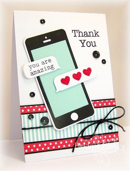 HYCCT1418 - iphone thanks by bfinlay - Cards and Paper Crafts at Splitcoaststampers